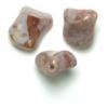 Glass Bead Twist 11x10mm Light Purple Marble Strung